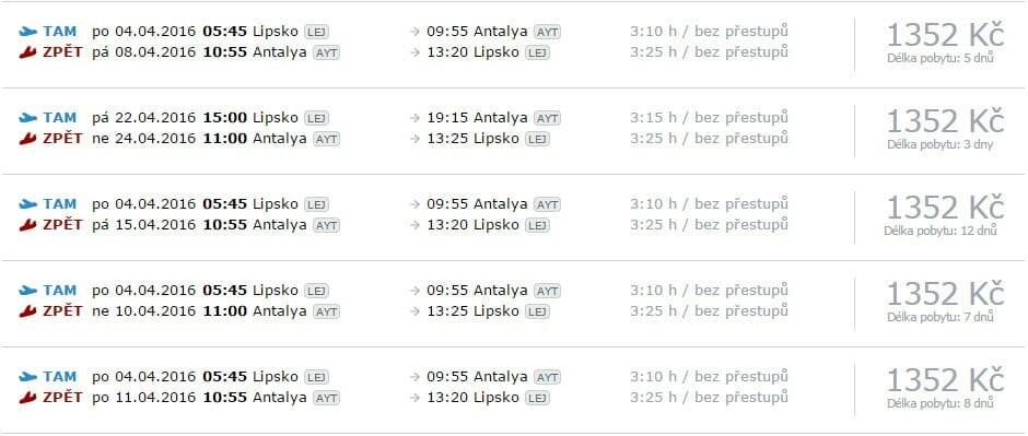 Letenky do Turecka