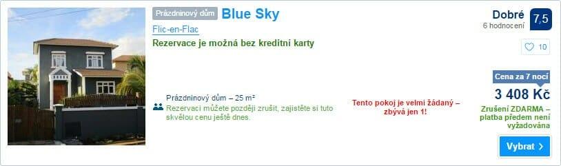 Blue Sky, 3.408 Kč