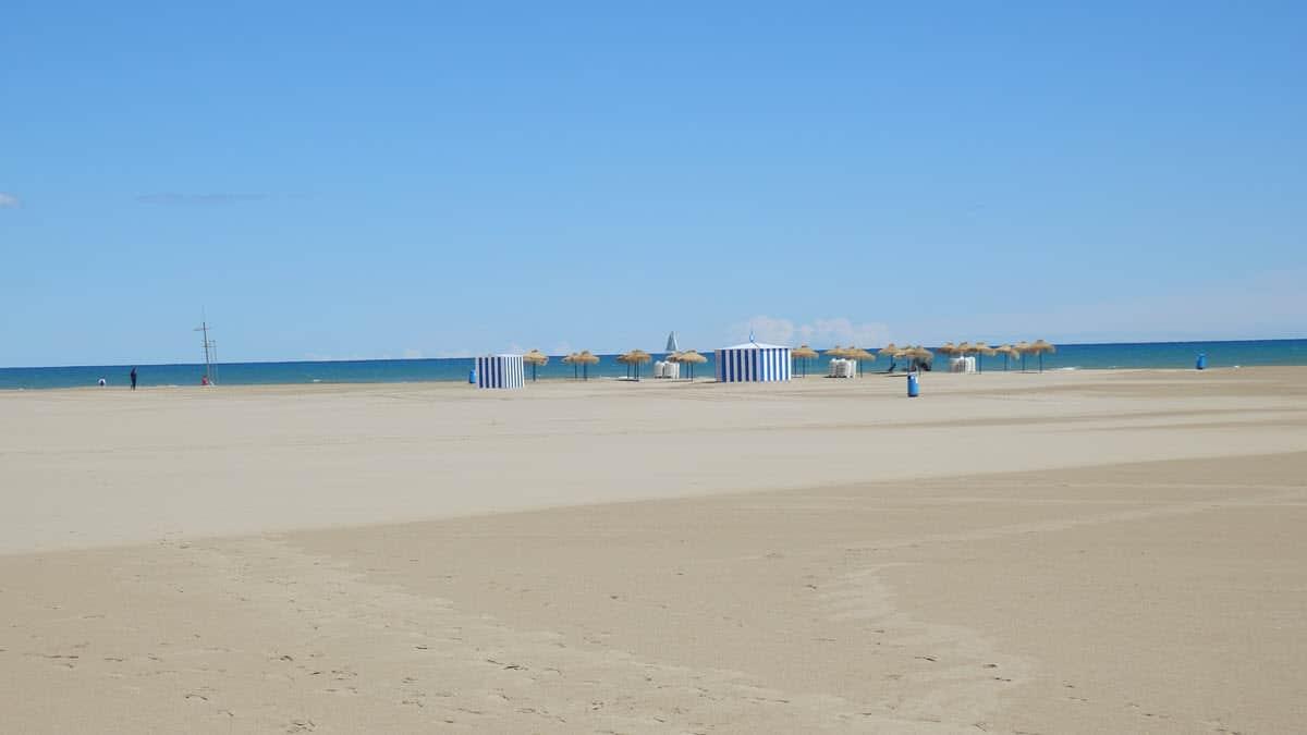 Valencia, pláž k moři
