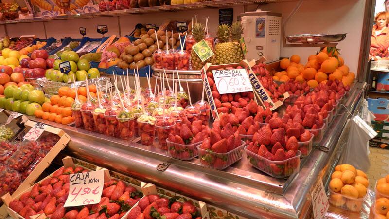 Valencia, tržnice, ovoce