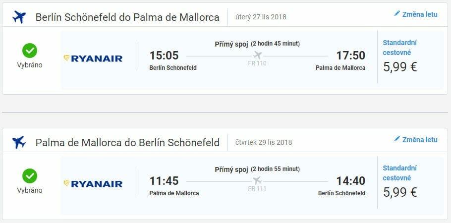 Berlín - Mallorca, 27. až 29.11.2018 (Letenky za 310 Kč)