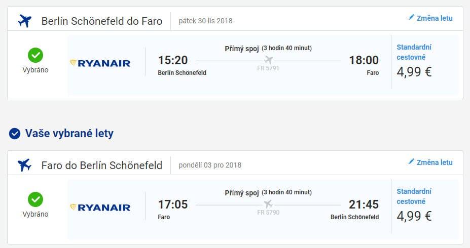 Faro 30.11. až 3.12.12.2018 (Letenky Ryanair)